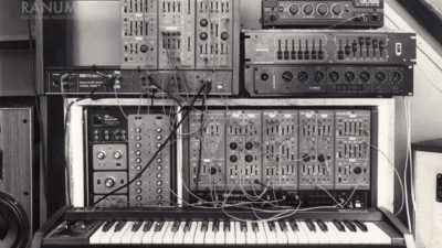 First version of the Roland System-100M.